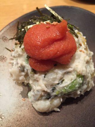 高菜と明太子のポテトサラダ